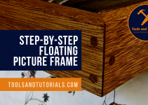 Step-by-step floating picture frame